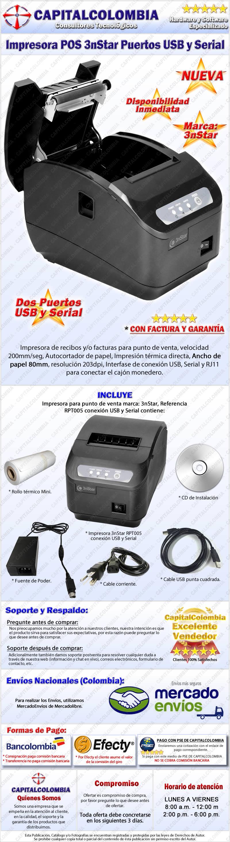 Impresora Térmica de Red para puntos de ventas POS